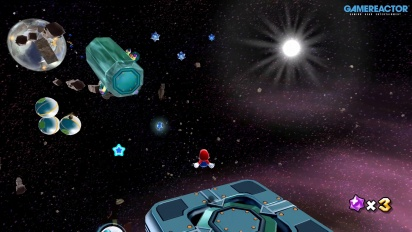 Super Mario Galaxy di Nintendo Switch: Space Junk Galaxy Gameplay